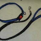 new hand made the usa paracord para cord police blue line collar dog leash 550 combo
