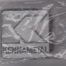 new and sealed kennametal metal 2 x 2 inches metal belt buckle