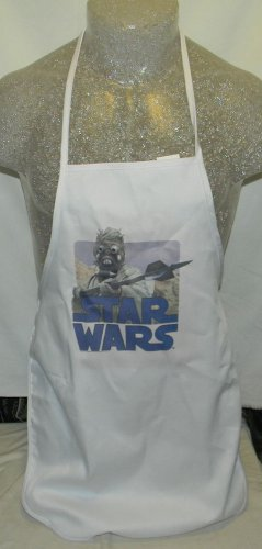 NEW RARE VINTAGE HAND MADE STAR WARS 70'S IRON ON SAND PEOPLE APRON