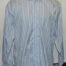 Brooks brothers blue with stripes non iron long sleeve large dress shirt