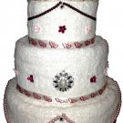 Wedding Towel Cake - CUSTOM DESIGNED - Wedding/Bridal Shower Gift - NEW