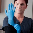 Disposable Nitrile Exam Glove. Aqua Blue.Latex Free,Powder free.Carton of 1000 Gloves(100x10) SMALL