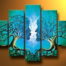 No Frame!! Modern Abstract Original Oil Painting Paintings Canvas Art Wall Decor Love Tree