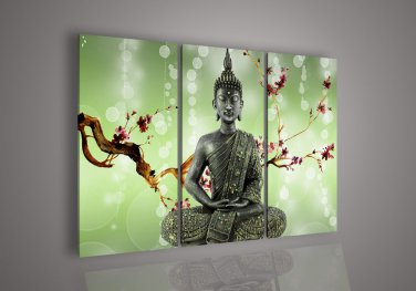 Framed!! Huge Size Wall Decoration Buddhism Painting on Canvas
