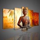 Framed!! Zen Buddha Painting Buddhist Wall Decor Handmade Oil Painting