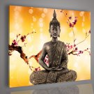 Framed &Stretched and Painted Modern Buddha Oil Painting on Canvas
