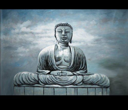 Ready to hang Asian style Modern Huge Acrylic canvas art Religious Sakyamuni Buddha Oil painting