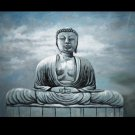 Ready to hang Asian style Modern Huge Acrylic canvas art Religious Sakyamuni Buddha Oil painting