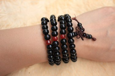 natural lapis lazuli beads Buddha prayer mala stretchy bracelet for Meditation