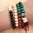 Buddha Bracelets Sandalwood 108PCS Buddha Bead Buddhist Lucky Stretchy Strand Bracelet Jewelry