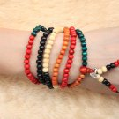 Bo Tree Mala Beads 216 Wooden 5 Color Wood Buddha Beads for Meditation 6mm