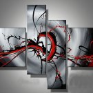 Framed!! Beautiful Abstract Oil Painting on Canvas for Home Decor