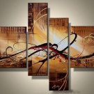 Framed!! Large Size Wall Art 100% Handmade Abstract Oil Painting on Canvas