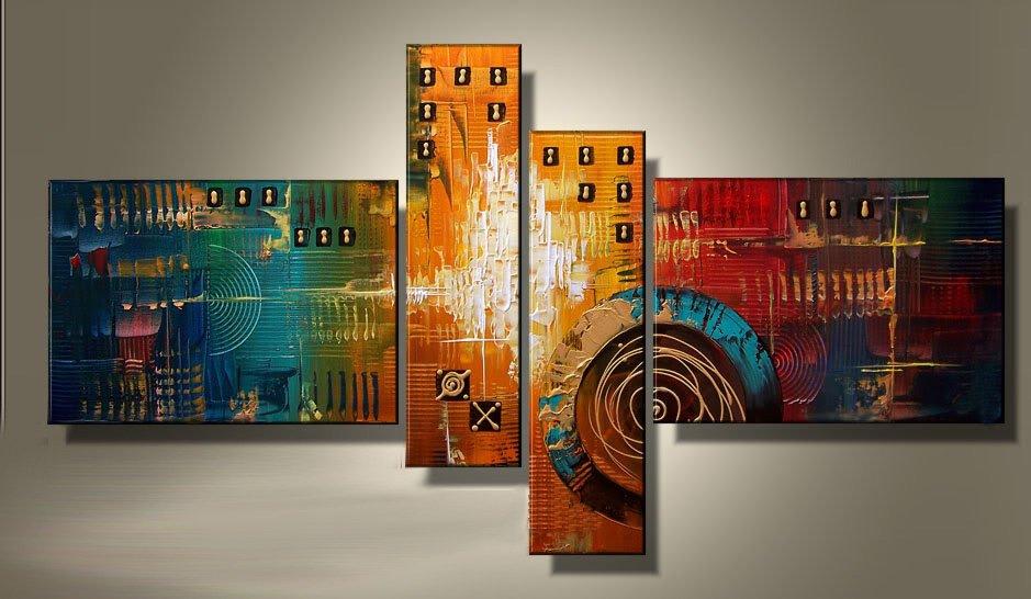 Framed!! Handmade Oil Painting Modern Abstract Art on Canvas for Home Decor