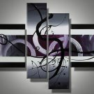 Framed!! Hand Painted canvas home decoration Modern abstract Oil Painting for living room