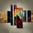 Framed!! Top Quality Abstract Oil Painting On Fabric Canvas Wall Art Handmade Decoration