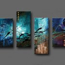 Framed!! Hand-painted Hi-Q modern hanging wall art Home decorative abstract oil painting on canvas
