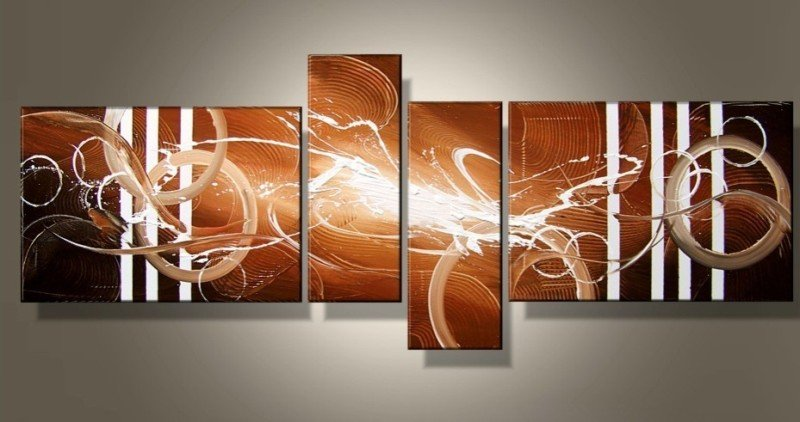 Framed!! High Quality Modern Abstract Oil Painting on Canvas Art group oil paintings on wall