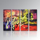 hand-painted Canvas Acrylic Abstract Oil Painting Home Decoration Modern Art Wall Picture Framed