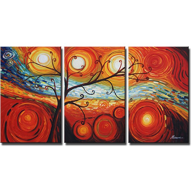 Framed!! High Quality Handmade Modern Wall Art Abstract Oil Painting on Canvas Home Decor