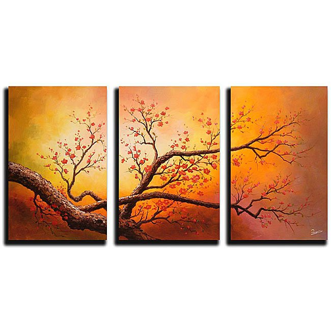 Framed!! Large Size Wall Art Home Decoration Landscape Oil Painting on Canvas