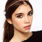Girl Fashion Pink Metal Rhinestone Head Chain Jewelry Headband Hair Accessories