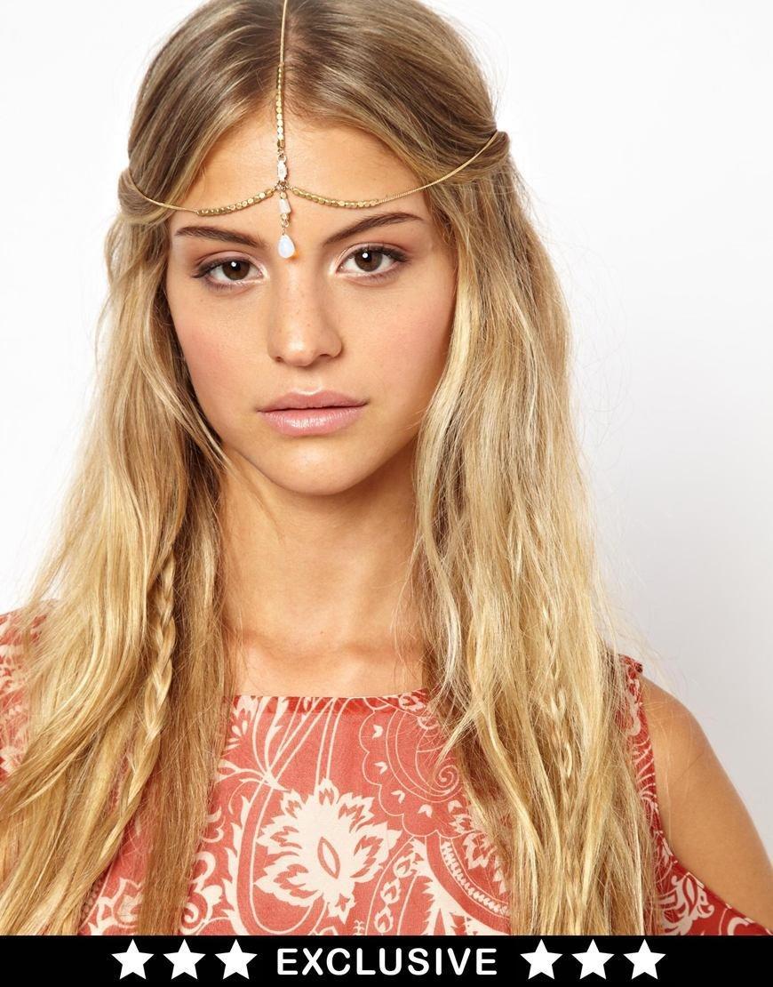 Womens Fashion Rhinestone Gemstone Head Chain Headband Head Piece Hair band