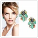 New Fashion Classical Hot Beautiful Green Rhinestone earrings Yellow Green Stone