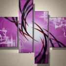 Stretched!!Home Decoration Abstract Oil Painting On Canvas 4pcs/set