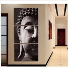 Handmade Zen Buddha Painting on Canvas for Decor No Frame