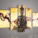 No Framed!!Hand-Painted Modern Buddha Oil Painting on Canvas