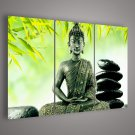 Wholesale - 3 Panel Wall Art Religion Buddha Oil Painting On Canvas No Framed
