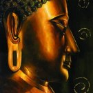 Wholesale Hand-painted Canvas Oil Painting Buddha Painting Square Art Painting No Frame