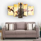 Framed Large Size Wall Art Religion Buddha With Flowers Oil Painting Home Modern Decoration