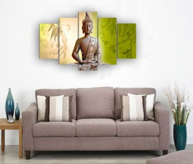 Framed Large Size Handpainted buddha Oil painting living room modern Ready to Hang
