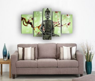 Framed Large Size abstract Religion Buddha Oil Painting Contemporary Bistro Tables