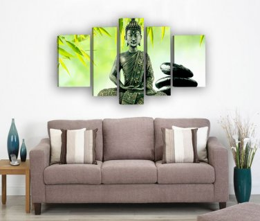 Framed Huge Size Chinese oil paintings religion buddha oil painting on canvas home decor Stretched