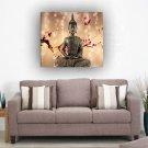 Framed single Panel Home Décor Flowers Religion Buddha Oil Painting On Canvas