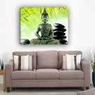 Framed oil paintings religion buddha Green Leaf on canvas home decoration Ready to Hang