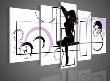 Canvas Oil Painting Naked Women Abstract Wall Art Pictures for Living Room Home Decoration No Frame