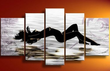 Huge Handmade Naked Woman Painting Sexy Nude Modern Abstract  Painting No Frame