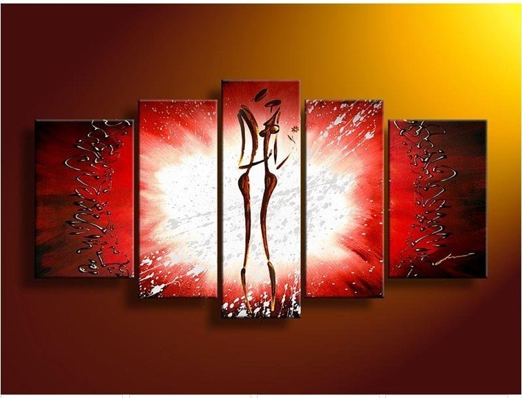 Huge Size Wall Paintings On Canvas Modern Abstract African Woman