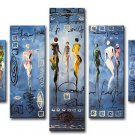 Huge Size Dancing Ladies Abstract Art Oil Paintings Beautiful Women Canvas Art Modern Wall No Frame