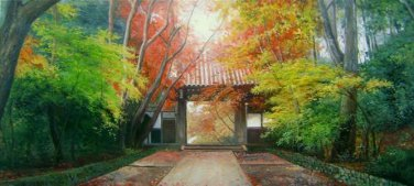 No Framed! huge modern Color Green Red Trees hd prints canvas art no stretched