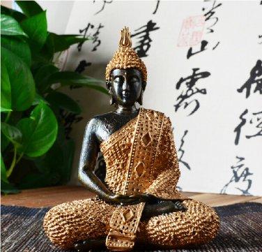 "7.8"" Thai Buddha Meditating Peace Harmony Statue"