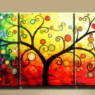 Home decoration! Hand-painted Wall art Colorful Rich Tree Modern Abstract oil painting No frame