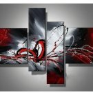 No frame!100% Handpainted Modern abstract Oil Painting On Canvas red black white Wall Art