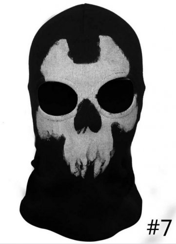Generic Call of Duty 10 Balaclava Face Ghost Skull Mask Hood Biker Skateboard Cosplay Cod