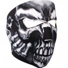 Hot Leathers Goblin Skull Neoprene Face Mask (Black)