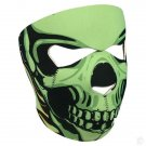 Neoprene Green Skull Full Face Reversible Motorcycle Mask (Assassin) …